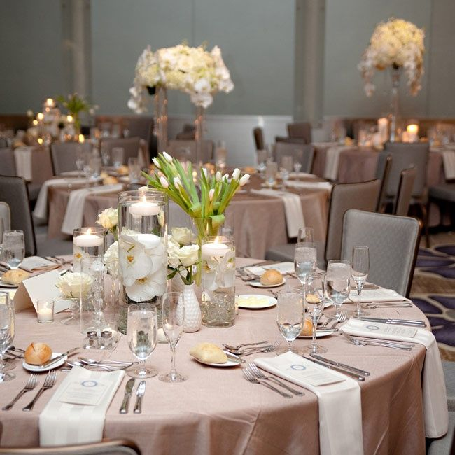 Coffee And Cream Wedding Ideas Coloured Table Linen With Napkins Neutral