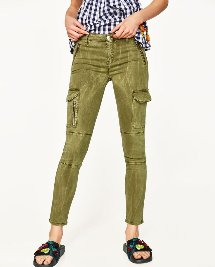 MID-RISE CARGO TROUSERS-View All-TROUSERS-WOMAN-SALE | ZARA United States