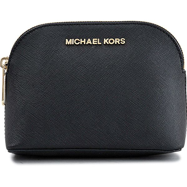 Michael Michael Kors Cosmetics Bag Cindy Travel Pouch 18K found on Polyvore featuring beauty products, beauty accessories, bags & cases, bags, dop kit, purse makeup bag, travel toiletry case, travel bag and toiletry kits