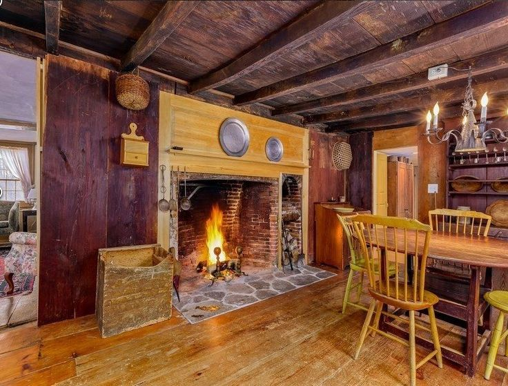 George Washington once visited this saltbox home in 1789, built nearly 60 years prior. Holliston, Massachusetts. [Sotheby's-AD] qw