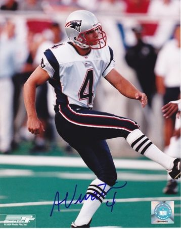 AAA Sports Memorabilia LLC - Adam Vinatieri Autographed New England Patriots 8x10 Photo, $59.95 (http://www.aaasportsmemorabilia.com/nfl/new-england-patriots/adam-vinatieri-autographed-new-england-patriots-8x10-photo/)