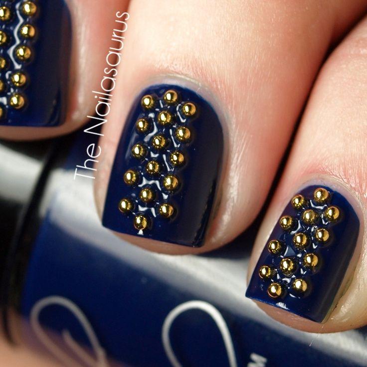 89 best images about blue nails on pinterest nail art - Unas azules decoradas ...