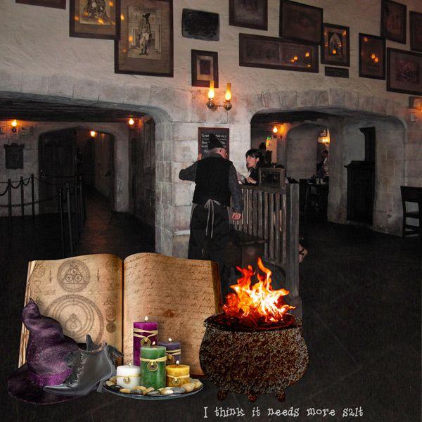 Black Magic Apprentice by  Tbear. Kit used: All Souls Night http://scrapbird.com/-c-83/halloween-sale-c-83_566/all-souls-night-p-16969.html