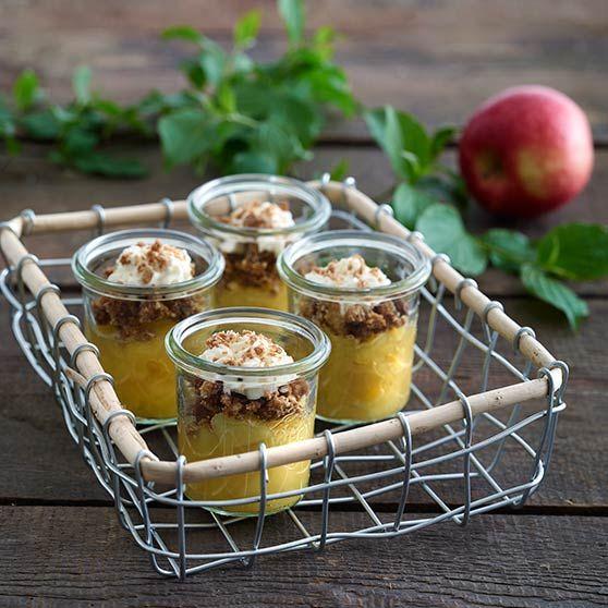 Æblekompot med saltet crumble - Opskrifter