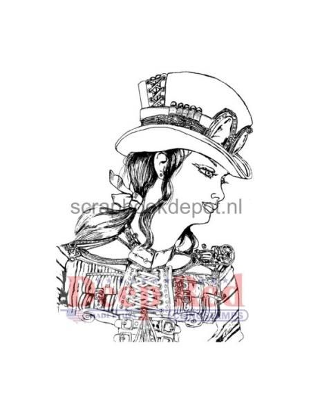 Steampunk Warrior Cling Rubber Stamp