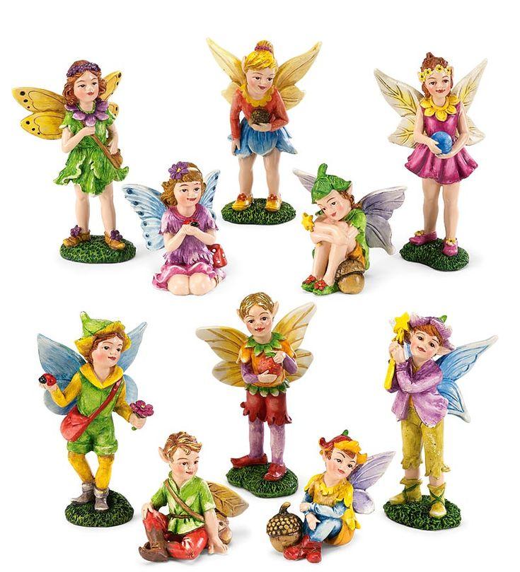 Superb 5 Piece Fairy Figurines Set · Miniature GardensFairy ...