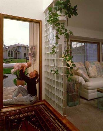 Best 25 glass blocks wall ideas on pinterest glass - Glass block windows in living room ...