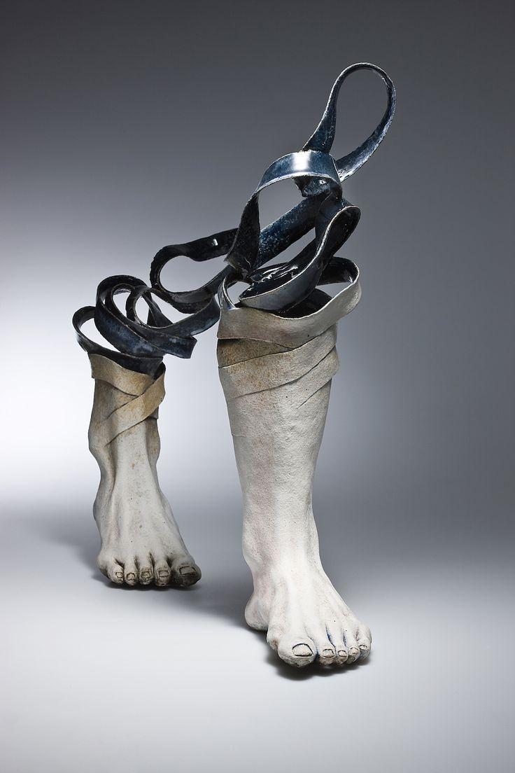 esculturas em cerâmica de haejin lee