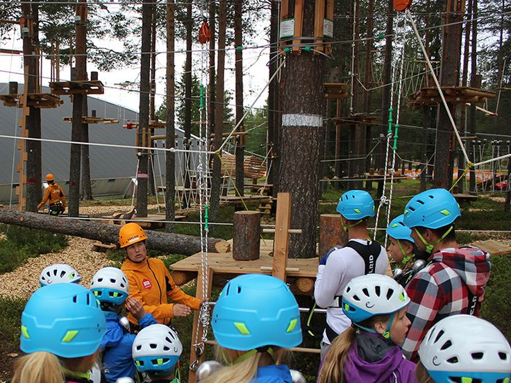 Safety first at the Arctic Adventure Park Huima.