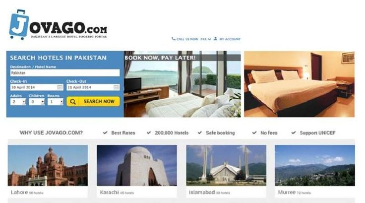 Jovago, the leading online hotel booking website, has now 2147 hotels listed from all over Pakistan that can be booked from anywhere in the world using the