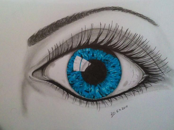 kresba tužkou a pastelem
