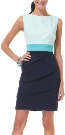 Connected Apparel Tiered Colorblock Dress …, http://style-smilez.tumblr.com/post/43572468818/connected-apparel-tiered-colorblock-dress , Pinned by http://pinterest.com/pinterestfella