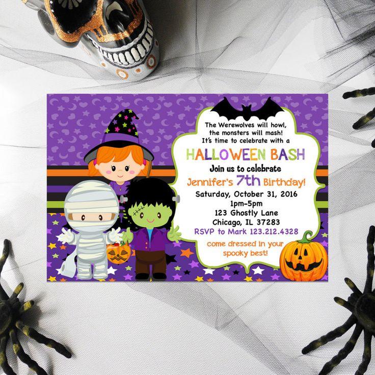 25+ Best Ideas About Halloween Invitations Kids On Pinterest