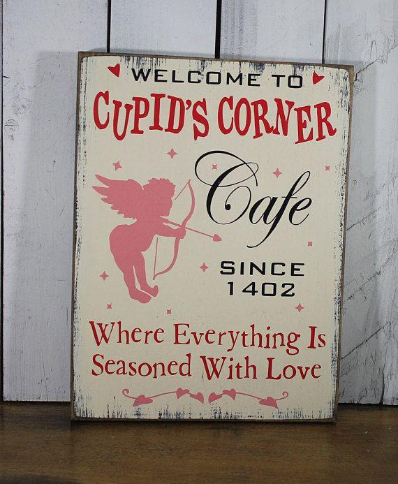Cupid's Corner Cafe Sign/Valentine/Valentine
