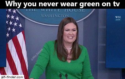 Why you never wear GREEN on TV