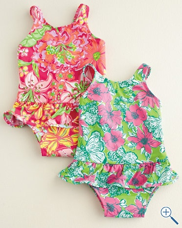 Ruffled Tank e Piece by Lilly Pulitzer Baby Girls