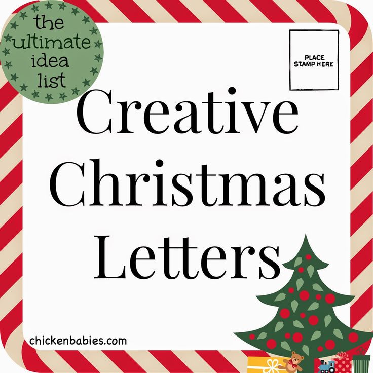 creative christmas letters