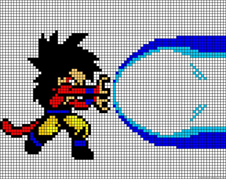 Populaire 72 best Dragon Ball Z Perler Patterns images on Pinterest | Bead  XF98