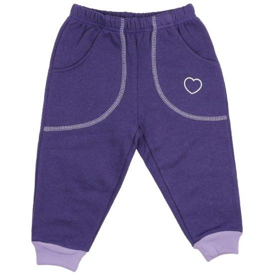 Pantaloni trening groși mov cu buzunar imprimeu inimioare de la http://magazin.liloo.ro