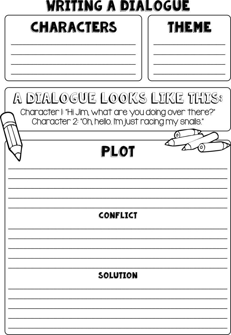 how to write dialogue  dialogue writing frame