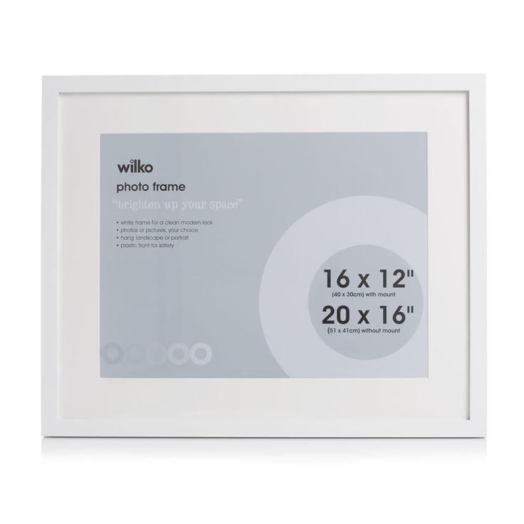 Wilko White Photo Frame 20 x 16in