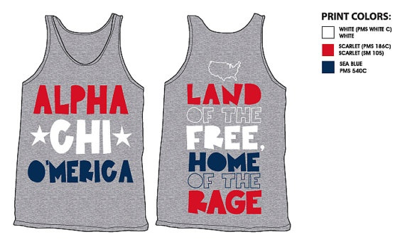 Alpha Chi Omega O'merica sorority Tshirt by AlphaChiOmega on Etsy, $16.75  I NEED THIS!