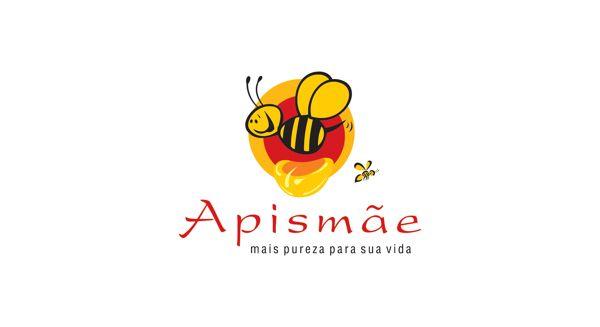 Logotipo desenvolvido para Apismãe, produtor de mel em Uberaba/MG.