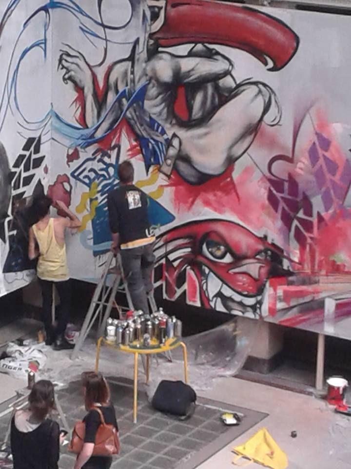 jam session di street artists a Macao, Milano
