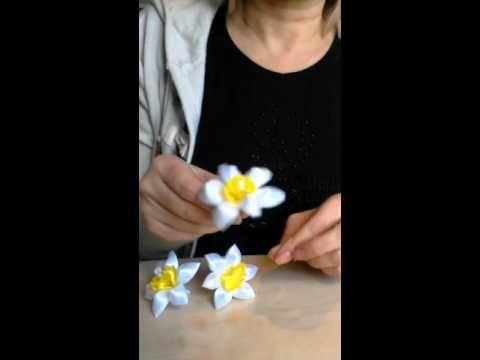 Kanzashi tulip,ribbon tulip - YouTube