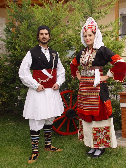 TRADITIONAL WEDDING GOWN. Greek Macedonia
