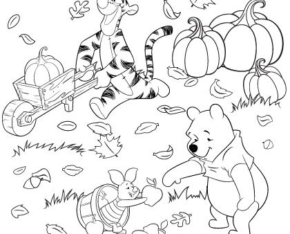 Princess Auroras Autumn Coloring Page