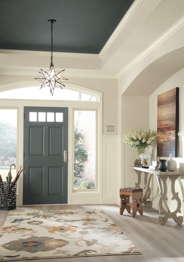 Dramatic paint inspiration sherwin williams nouveau - Best foyer paint colors ...