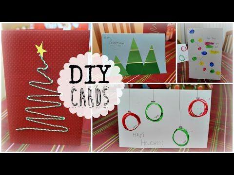 DIY Quick, Cheap & Easy Holiday Christmas Cards | rosaliesaysrawr - YouTube
