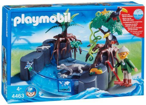 Playmobil caiman basin by playmobil this set is for Piscine playmobil