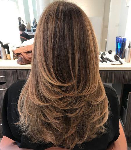 Upside-down steps for long hair   – Lange Frisuren