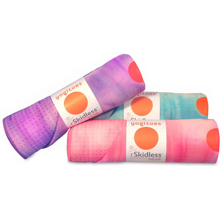 A super absorbent, hygienic layer to place on your yoga mat to prevent slipping by yogitoes.