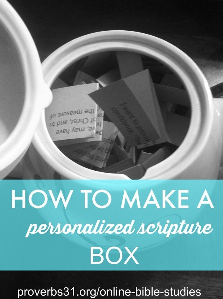 How to make a personalized scripture box. Directions + FREE printable here:  http://proverbs31.org/online-bible-studies/2014/04/16/how-to-make-a-scripture-personalized-box/