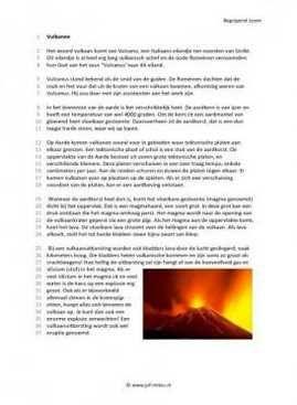 Begrijpend lezen - Vulkanen