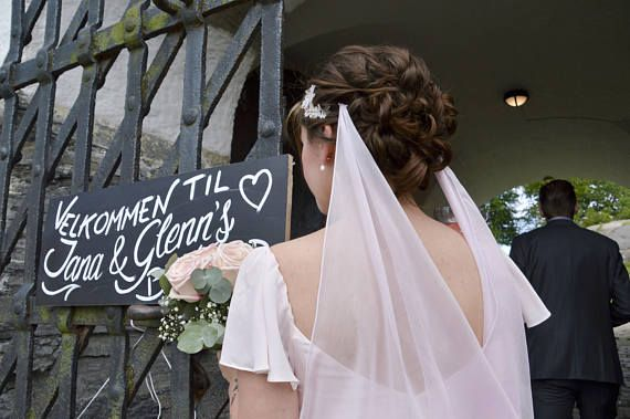 Blush Bridal Veil Wedding Veil Light Pink Silk Veil Silk