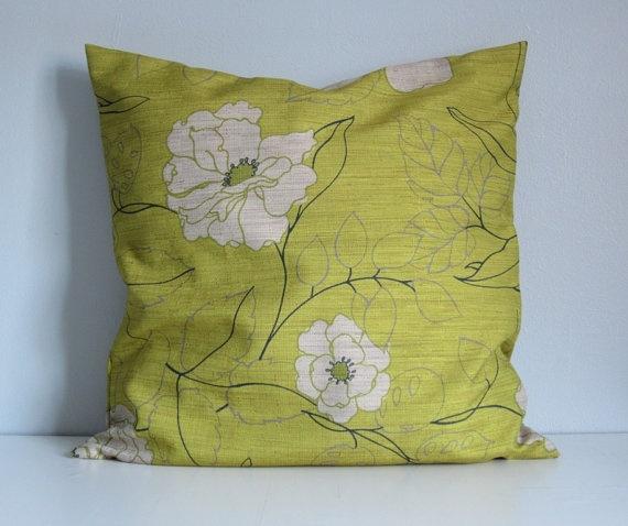 Floral Celadon Lime Green Decorative Throw By Ainthatastitch 5000 DecorFloor PillowsKitchen LivingDecorative PillowsNavy BlueLimes