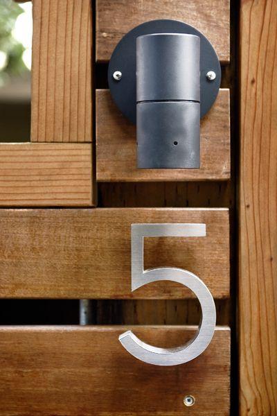 Front Door number