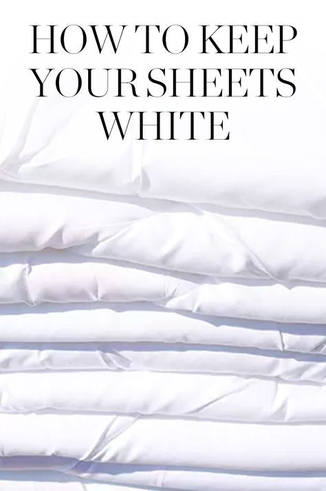How To Keep Your White Sheets White When You Live With A Sweaty
