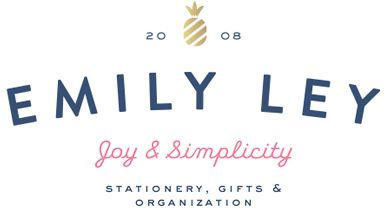 Emily Ley offers personalized stationery, gifts and organizational tools for women.