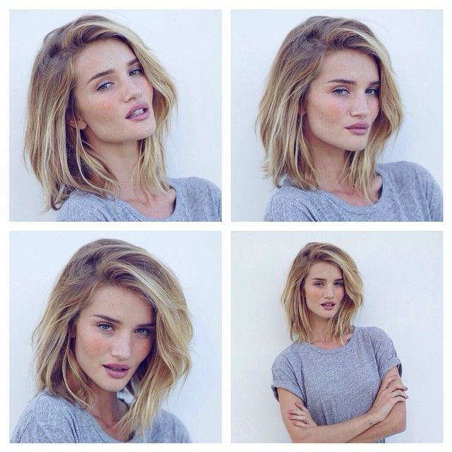 """""""Check out my favourite LA woman  @rosiehw - supermodel strands just got shorter! Haircut by GN and photographer @miguelreveriego #athomewithrosie…"""""""