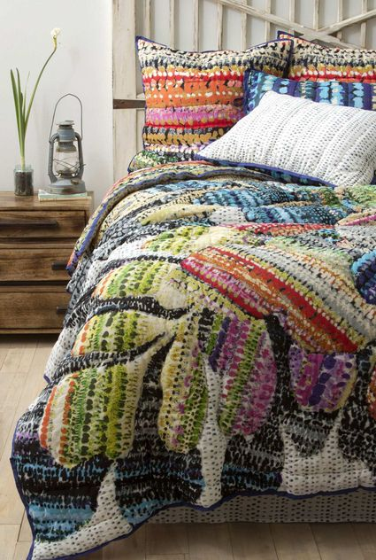 Anthropologie Bedding, leaves
