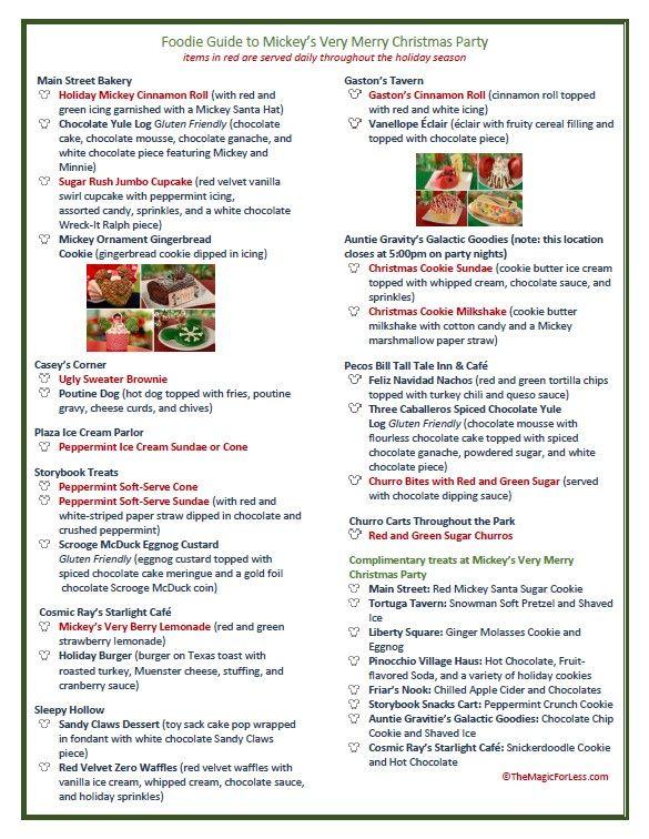 Foodie Guide to 2018 Mickey\u0027s Very Merry Christmas Party Mickey\u0027s