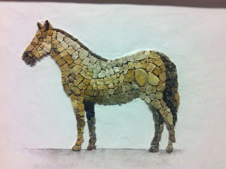 Aneme Mosaics Mosaic Horse Mosaic Art Stone Art Pebble Art