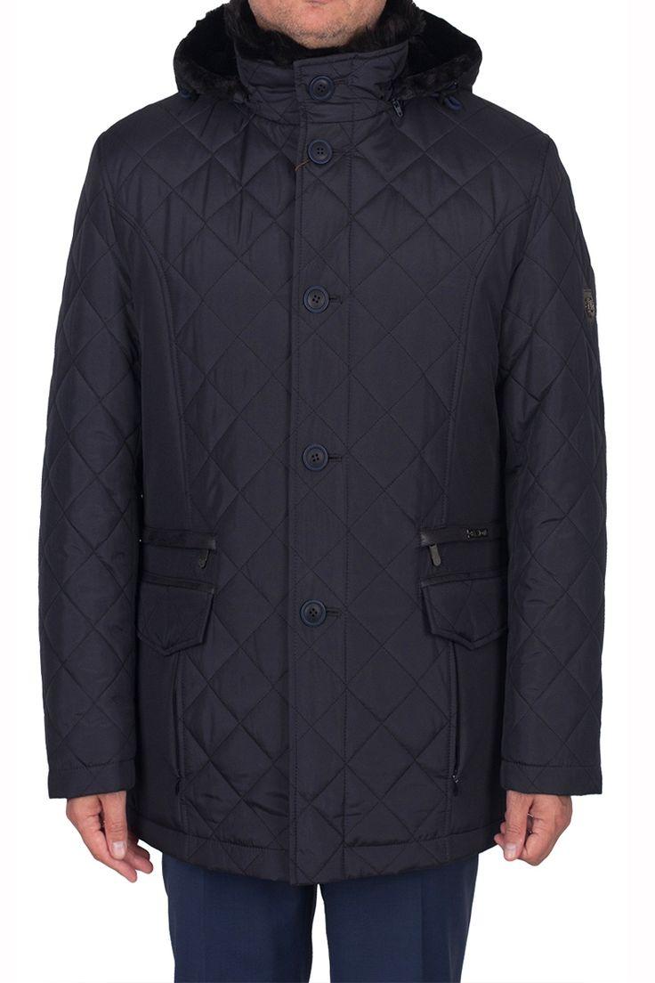 Мужская зимняя куртка JORDAN NIGHT BLACK темно-синего цвета