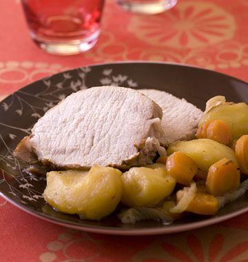 Rôti de porc au cidre, en cocotte minute, la recette d'Ôdélices : retrouvez les ingrédients, la préparation, des recettes similaires et des photos qui donnent envie !