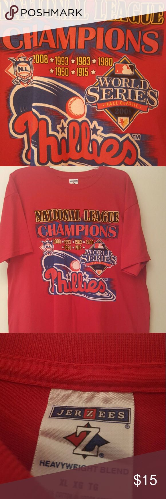 2008 Philadelphia Phillies World Series Champion Never worn championship World Series T-Shirt. Jerzees Shirts Tees - Short Sleeve